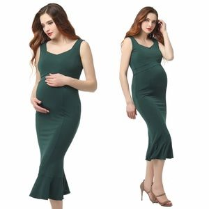 Kimi + Kai Maternity Kora Mermaid Midi Dress
